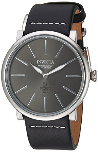 Invicta Men's 'I-Force' Quartz Stainless Steel and Leather Casual Watch, Color:Black (Model: 22930)