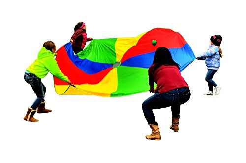 12 Foot Kids Colorful Play Parachute, 8 Handles, Perfect Toy Tent For Outdoor Games, Backyard Fun, Children Physical Education Activities