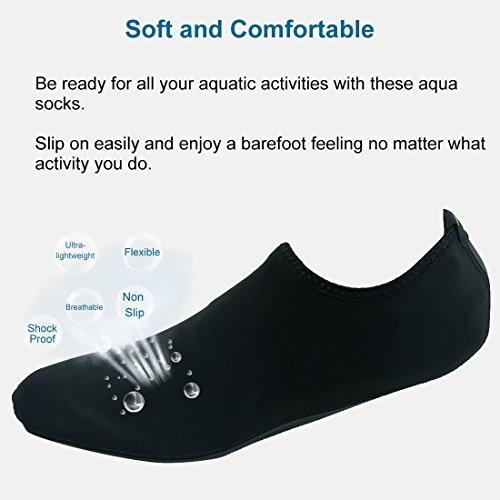 Forfoot Wasser Socken, Unisex Wasser Haut Schuhe Low Top Tauchen Schnorcheln Neopren Strand Socken Tauchen Schnorchel Socken Volleyball Fußball Schuhe für Wassersport Yoga Schwarz
