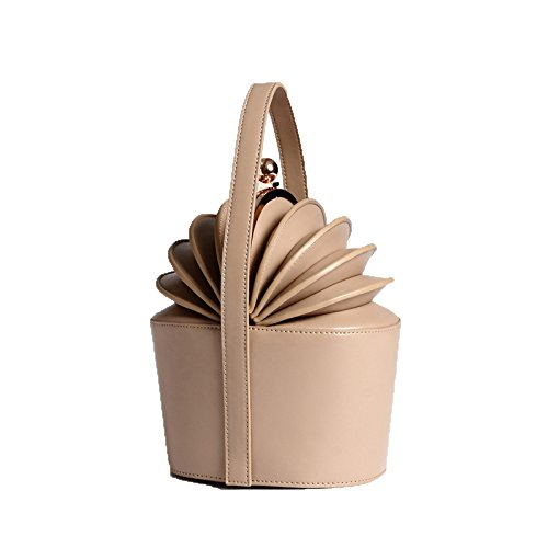 Bucket Handbags Minority Pineapple Kale Ladies XIAOLONGY Handbag apricottrumpet Basket New Leather Organ Handkerchief t16qxB8p