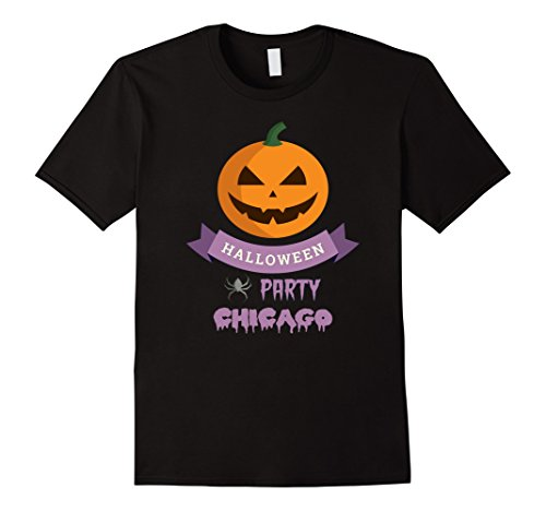 Mens Chicago Scary Pumpkin Local Halloween Party T Shirt Large (Halloween Costumes 2017 Chicago)