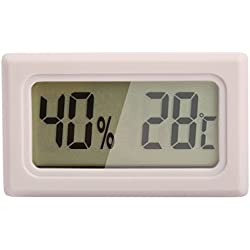 Ray-JrMALL Mini Digital Temperature Humidity Meter Gauge Thermometer Hygrometer LCD Degree Celsius(C) Display White