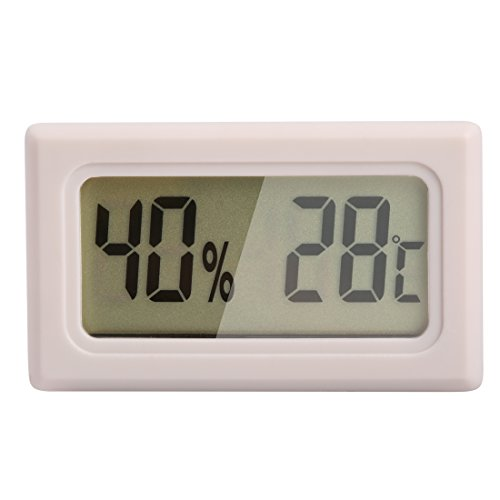 Price comparison product image Ray-JrMALL Mini Digital Temperature Humidity Meter Gauge Thermometer Hygrometer LCD Degree Celsius(C) Display White