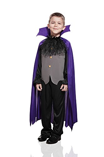 Kids Boys Gothic Vampire Halloween Costume Dracula Prince of Darkness Dress Up (3-6 years, (2 Piece Vampire Costumes)