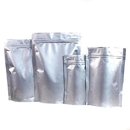 20pcs aluminio Ziplock plástico bolsa bolsas con cierre ...