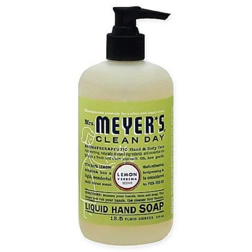 (Mrs. Meyer's Clean Day Liquid Hand Soap, Lemon Verbena Scent, 12.5 fl oz (Pack of 3))