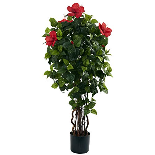 Nearly Natural 5410 Hibiscus Tree 4Feet Green