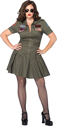 Morris Costumes Women's Top Gun Dress Adult X-Large 1X 2X