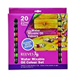 Reeves 20-Pack Water Mixable Oil Color Tube Set, 22ml