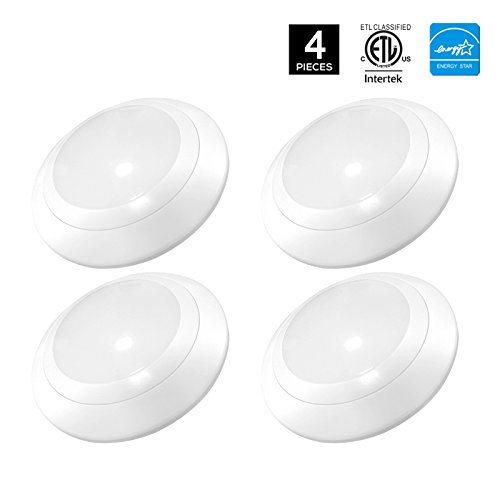 LED Surface Recessed Mount LED Downlight Kit -- LED Disk Light Can be mounted on j-boxs - Dimmable 4 Inch 11W( 70 Watts Equivalent ), 660lm,CRI 90,4000K -- Fits most (Disk Lighting Kit)