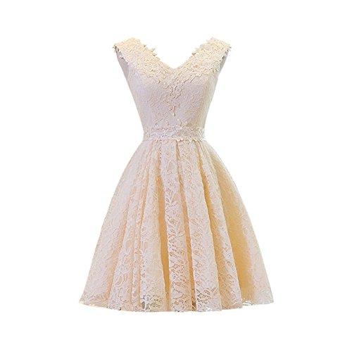 Linie champagnerfarben Damen A Drasawee Kleid 6qSRgg8w
