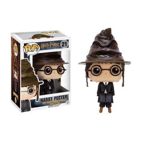 - Funko Pop Movies: Harry Potter with Sorting Hat Collectible Figure, Multicolor