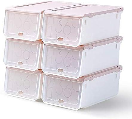 FLM Cajas de Almacenaje Plegable - Juego de 6 Cajas de Zapatos Transparente Apilables 33 x 22.5 x 14 cm para Hombre y Mujer: Amazon.es: Bricolaje y herramientas