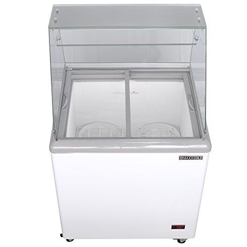 7.5' Pan (Maxx Cold 4 Flavor 7.5 cu ft Commercial Ice Cream Dipping Cabinet Freezer)
