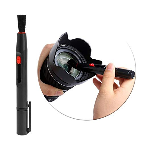 sahnah 3 In 1 Camera Lens Dust Cleaning Brush Air Blower Wipes Cleaning Cloth Tool