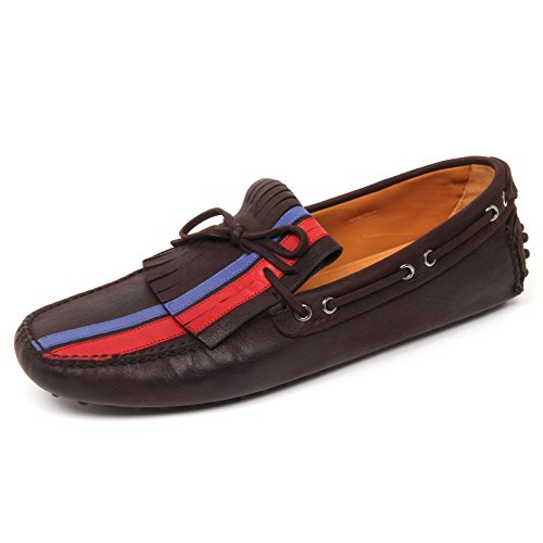 D0672 mocassino uomo CAR SHOE scarpa marrone scuro loafer shoe man Marrone scuro