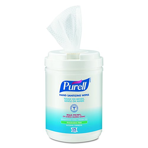 Antimicrobial Hand Sanitizer Wipes - PURELL 9031-06 Antimicrobial Sanitizing Wipes, (175 Count) - 6 Pack