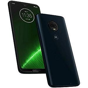 Motorola Moto G7+ Plus (64GB, 4GB RAM) 6.2″ FHD+ Display, Dual SIM GSM Factory Unlocked – Canada & Global 4G LTE International Model – XT1965-2 (Deep Indigo, 64GB+64GB MicroSD)