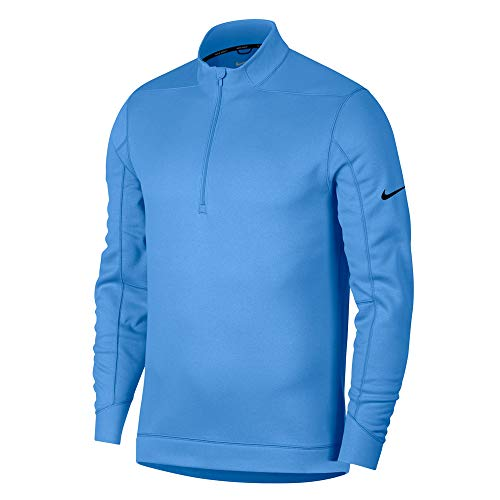 (NIKE Therma Repel Top Half Zip OLC Golf Pullover 2018 University Blue/Black Large)