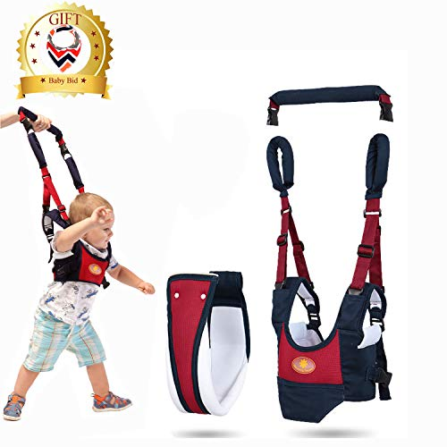 Baby Walker Harness with Crotch,Toddler Walking Assistant Helper,4 in 1 Detachable Adjustable Soft Standing Up and Walking Learning Walking Wings for 7-24 Month Babies,Baby Bid Gift