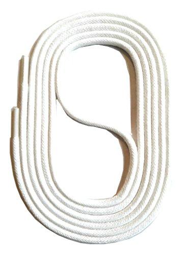 2 Colorati Colorate Per Scarpe Lacci Stringhe Snors Mm 3 Rotondi Bianco Cerate AHXS45wqx