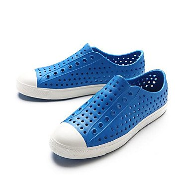 Los hombres sandalias zapatos agujero Confort Casual de resorte de goma azul Royal Azul Marino Amarillo Planas,azul Royal Royal Blue
