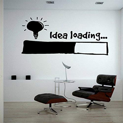 hwhz 56 X 89 cm Idea Loading Wall Stickers Light Bulb Lamp Window Car DIY Sticker Decal Vinyl Silhouette Clip Art Vector Plotter Cut -