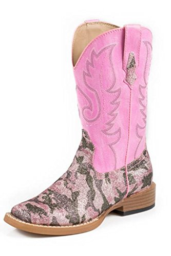 Roper Pretty Camo Square Toe Camo Cowgirl Boot (Toddler/Little Kid), Pink, 2 M US Little (Toddler Camo Cowgirl Boots)