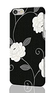"Black White Cream Flower 3D Rough iphone 6 -4.7 inches Case Skin, fashion design image custom iPhone 6 - 4.7 inches , durable iphone 6 hard 3D case cover for iphone 6 (4.7""), Case New Design By Codystore"