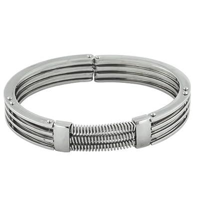 Pugster Bijoux Stainless Steel Bracelet homme argent Bracelet Stainless  Steel Bracelet homme argent Cuff Mens Bracelet