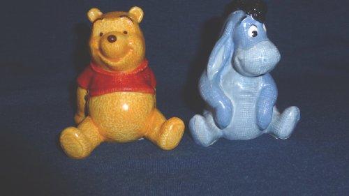 Disney Store Eeyore & Pooh Salt & Pepper Shakers (Eeyore Character)