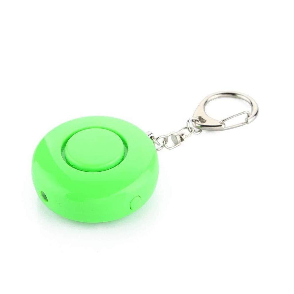 Personal Alarm Security Alarm- Self Defense Flashlight Alarm Panic Alarm Pocket Guardian Keychain Women Girl Kids Elderly Bidirectional Switch (Color : Green)