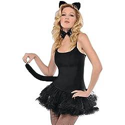 Amscan - Juego de accesorios para gato, talla única, color negro
