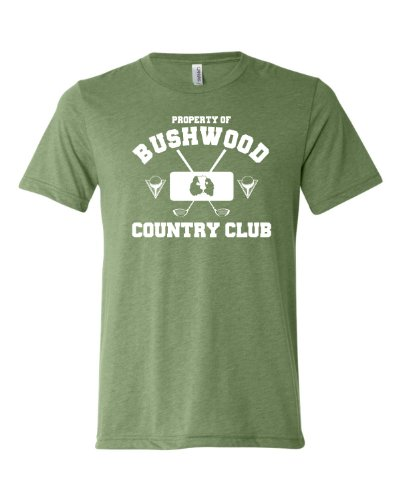 Large Green Adult Property Of Bushwood Country Club Caddyshack Inspired Triblend Short Sleeve T-Shirt -