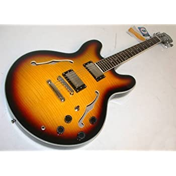 Washburn Oscar Schmidt OE30 Semi-Hollow Body Electric Guitar - Tobacco Sunburst