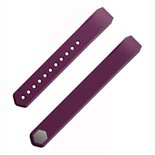 Etoper Silicone Accessories Replacement WristbandBandsSize Large Plum