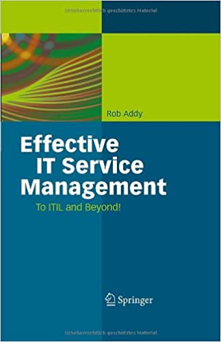 Book Effective IT Service Management: To ITIL and Beyond!