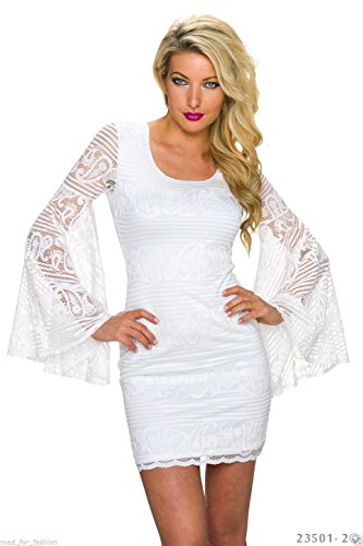 Italy Moda Damen Mini Kleid S/M Cremefarben grqcaTy
