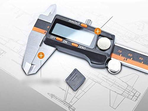 DXX-HR Stainless Steel Digital Vernier Caliper with Fraction Display Digital Caliper Electronic Caliper 0-150mm (Size : 0-150mm)