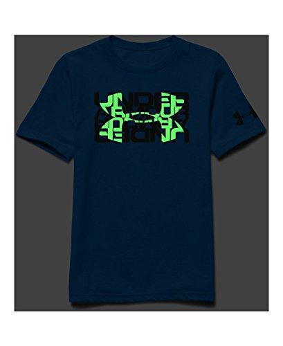 Under Armour Big Boys' UA Glow Big Logo T-Shirt Youth Large BLUE JET