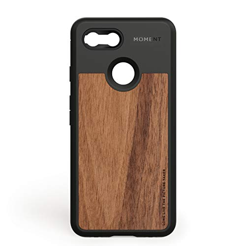 Pixel 3 XL Case || Moment Photo Case in Walnut Wood - Thin, Protective, Wrist Strap Friendly case for Camera Lovers.