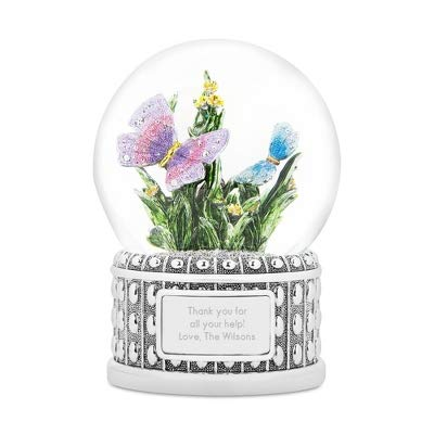 Things Remembered Personalized Jeweled Butterfly Musical Snow Globe with Engraving Included