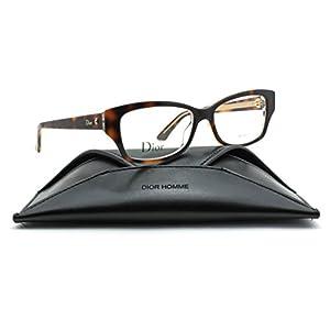 Christian Dior Montaigne 10 Women Rectangular Eyeglasses (Havana Crystal Frame 0G9Q, 52)