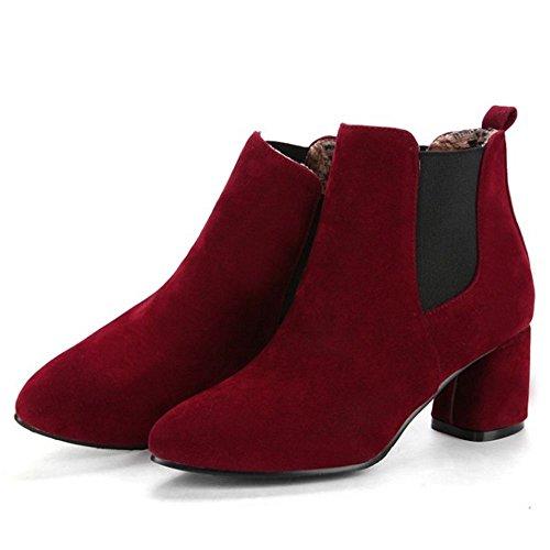 Autumn Pull On KemeKiss Red Women Boots 5tTP6