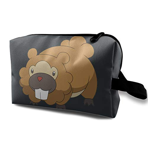 Animal Dust-proof Waterproof Travel Cosmetic Bag Anime Beaver -