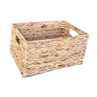 Medium Water Hyacinth Rectangular Storage Basket by Red Hamper
