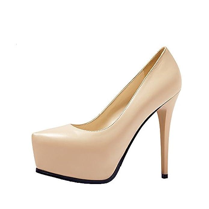 Scarpe E Borse Da Donna Col Tacco Xiezuerxiezuer-agl330d15d - A Collo Basso Beige beige 35