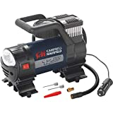 12 Volt Inflator with Light, 120 PSI Portable Compressor for Tire Inflation (Campbell Hausfeld RP320000AV)