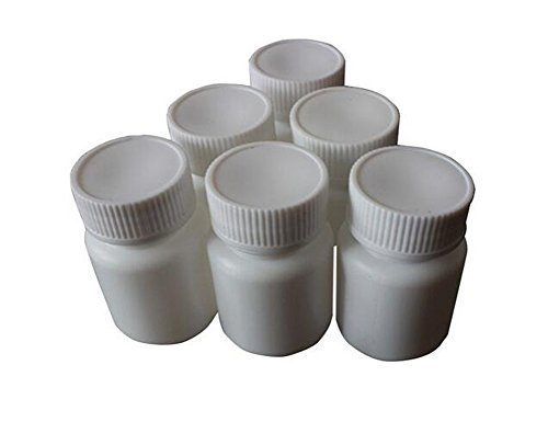 12PCS 150ml White Plastic Pill Bottles Capsule Bottle Storage Containers Medicine Bottles Pill Tablet Container Case Holder Pet Tin Vial White Screw Cap Jar (150ml)