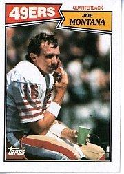 1987 Topps Joe Montana Football Card #112 - Shipped In Protective Display Case!